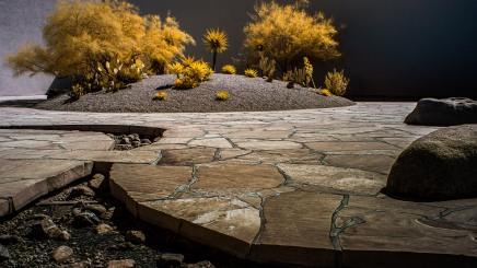 """""""Noguchi Garden""""-Costa Mesa, CA"""